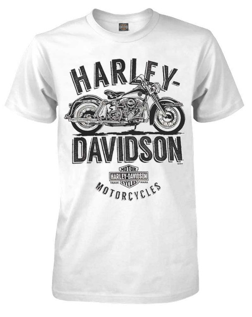 Harley-Davidson Men's Feel The Rumble Crew Neck Short Sleeve Shirt 5504-HC9D - Wisconsin Harley-Davidson