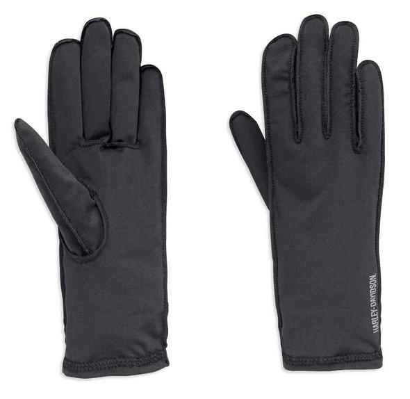 Harley-Davidson Men's Caruso Full-Finger Glove Liner, Black 98225-18VM - Wisconsin Harley-Davidson