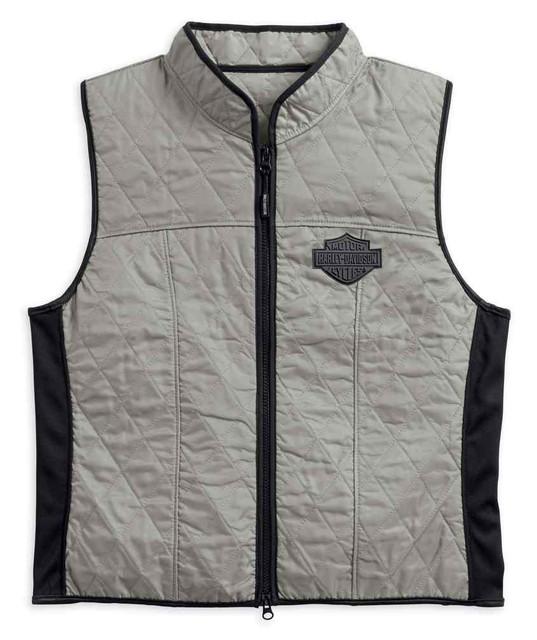 Harley-Davidson Men's Colorblocked Bar & Shield Zippered Cooling Vest 98215-18VM - Wisconsin Harley-Davidson