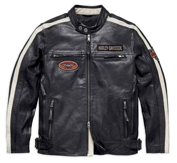 Harley-Davidson Men's Command Mid-Weight Leather Jacket, Black 98007-18VM - Wisconsin Harley-Davidson