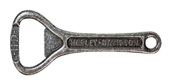 Harley-Davidson Engraved H-D Script Bottle Opener, Antique Zinc Alloy BO51620 - Wisconsin Harley-Davidson