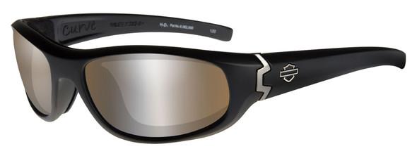 Harley-Davidson Men's Curve PPZ Sunglasses, Copper Lens / Black Frame HDCUR07 - Wisconsin Harley-Davidson