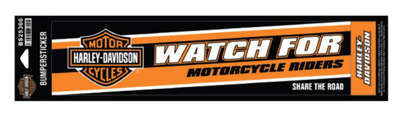 Harley-Davidson Caution Riders Bumper Sticker, LG & SM, 12 x 3 inches BS25366 - Wisconsin Harley-Davidson