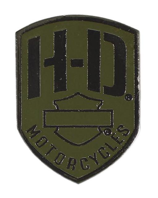 Harley-Davidson 2D Die Cast H-D Badge Pin, Olive & Black Nickel Finish P475531 - Wisconsin Harley-Davidson