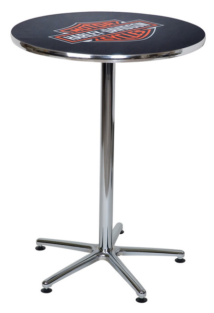 Harley-Davidson Bar & Shield Logo Round Cafe Table, Durable & Chrome HDL-12314 - Wisconsin Harley-Davidson