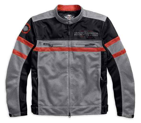 Harley-Davidson Men's Diffusion Colorblocked Mesh Riding Jacket 97224-18VM - Wisconsin Harley-Davidson