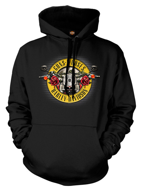 Harley-Davidson Men's Guns N' Roses Cover Motorcycle Hooded Sweatshirt, Black - Wisconsin Harley-Davidson