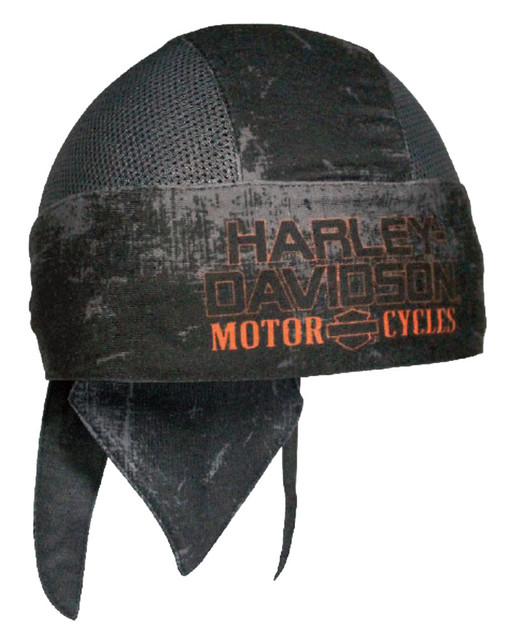Harley-Davidson Mens Charcoal Sublimated H-D Head Wrap, Distressed Black HW51681 - Wisconsin Harley-Davidson