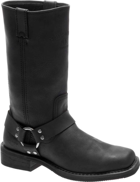 Harley-Davidson Men's Bowden 11.5-In Black Harness Style Motorcycle Boots D93477 - Wisconsin Harley-Davidson