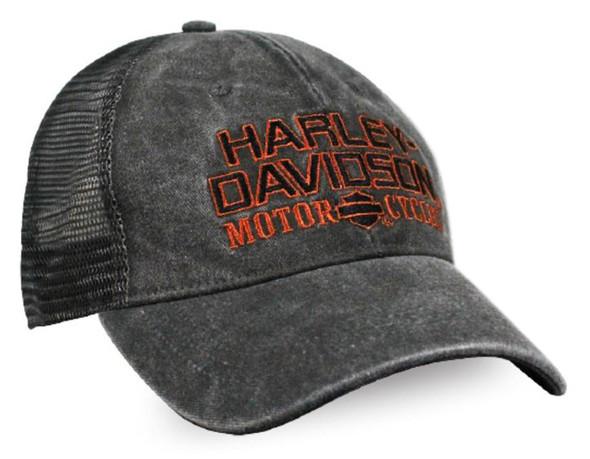 Harley-Davidson Men's Embroidered H-D Baseball Cap, Distressed Charcoal BCC51681 - Wisconsin Harley-Davidson