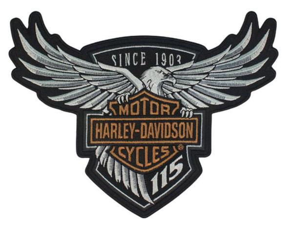 Harley-Davidson 115th Anniversary Eagle Emblem Patch Large 8 x 6 Limited Edition - Wisconsin Harley-Davidson