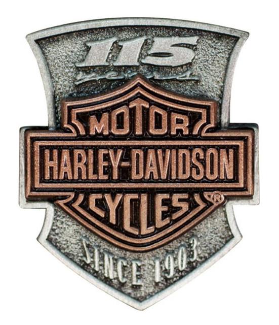 Harley-Davidson 115th Anniversary 2D Die Struck Pin, Limited Edition P260232 - Wisconsin Harley-Davidson