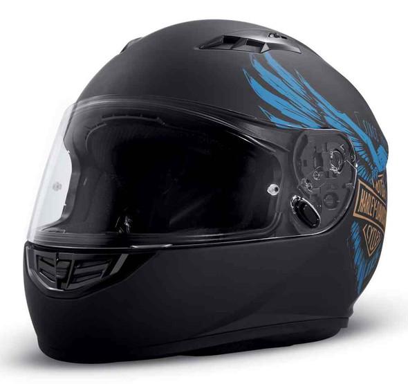 Harley-Davidson 115th Anniversary H28 Full-Face Helmet, Matte Black 98219-18VX - Wisconsin Harley-Davidson
