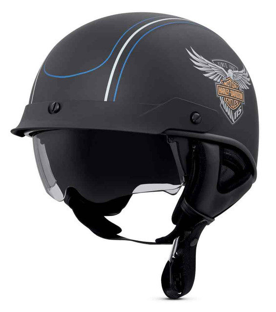 Harley-Davidson 115th Anniversary Ultra-Light Shield J03 Half Helmet 98224-18VX - Wisconsin Harley-Davidson