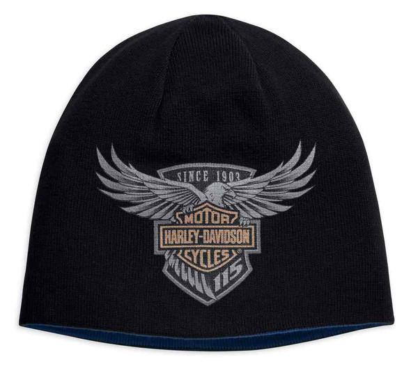 Harley-Davidson Men's 115th Anniversary Reversible Knit Hat, Black 99416-18VM - Wisconsin Harley-Davidson