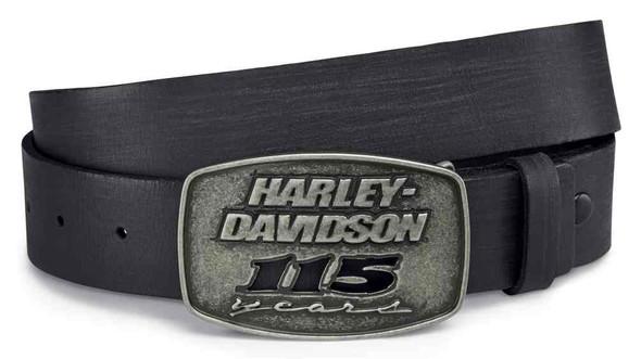 Harley-Davidson Men's 115th Anniversary Sculpted Belt Buckle, Black 99411-18VM - Wisconsin Harley-Davidson