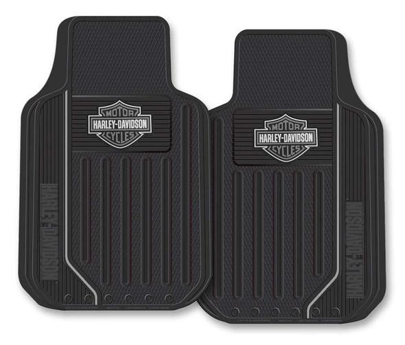 Harley-Davidson Floor Mats, Elite Series Bar & Shield Logo, Non-Carpeted, 1653 - Wisconsin Harley-Davidson