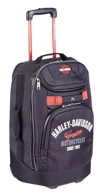"Harley-Davidson 26"" Tail of The Dragon Pullman Wheeling Luggage, Black 99825 BLK - Wisconsin Harley-Davidson"
