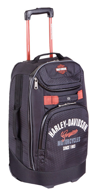 "Harley-Davidson 29"" Tail of The Dragon Pullman Wheeling Luggage, Black 99830 BLK - Wisconsin Harley-Davidson"