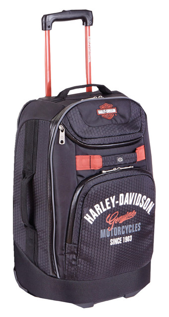 "Harley-Davidson 21"" Tail of The Dragon Carry-On Wheeling Luggage, 99820 Black - Wisconsin Harley-Davidson"