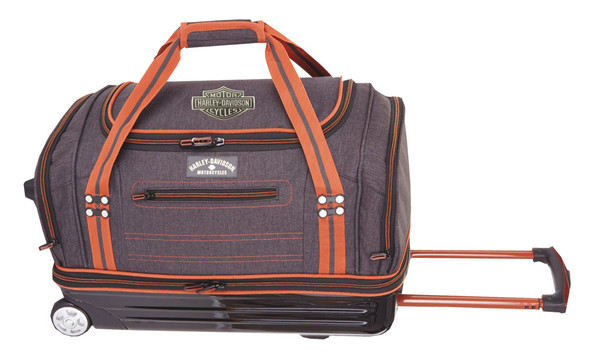 "Harley-Davidson 27"" Fire & Ice Semi Molded Rolling Duffle, Gray Black 99129 GB - Wisconsin Harley-Davidson"