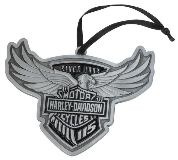 Harley-Davidson 115th Anniversary Limited Edition Pewter Ornament HDX-99102 - Wisconsin Harley-Davidson