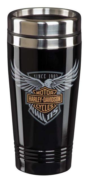 Harley-Davidson 115th Anniversary Limited Edition Travel Mug - Black HDX-98602 - Wisconsin Harley-Davidson