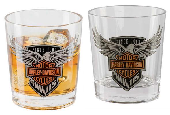 Harley-Davidson 115th Anniversary Double Old Fashioned Set, 12 oz. HDX-98701 - Wisconsin Harley-Davidson