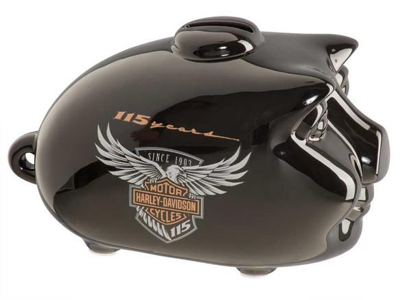 Harley-Davidson 115th Anniversary Limited Edition Mini Hog Bank, Black HDX-99100 - Wisconsin Harley-Davidson