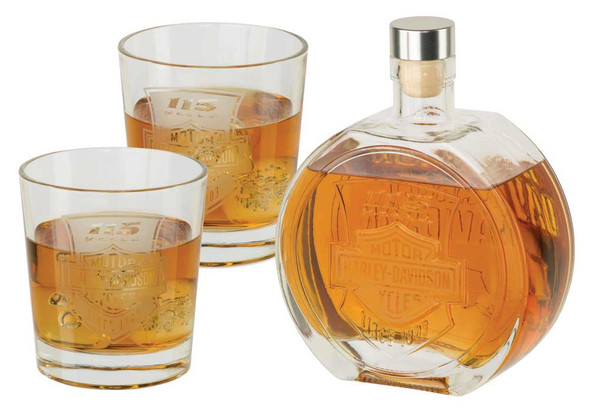 Harley-Davidson 115th Anniversary Limited Edition Decanter Set, 25 oz. HDX-98705 - Wisconsin Harley-Davidson