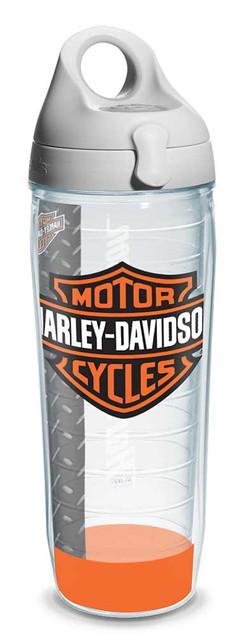 Harley-Davidson Bar & Shield Logo Water Bottle w/ White Lid, 24 oz. 1124953 - Wisconsin Harley-Davidson