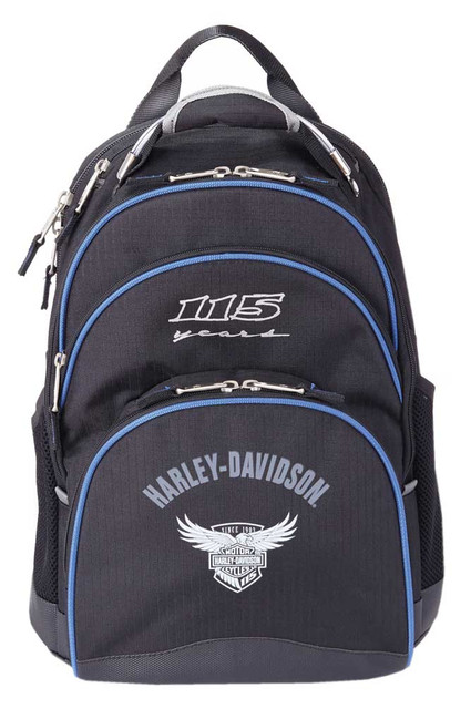 "Harley-Davidson 115th Anniversary Collection ""Steel-Cable"" Backpack, Black 99220 - Wisconsin Harley-Davidson"