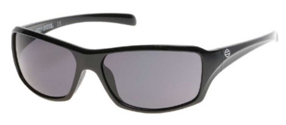 Harley-Davidson Men's Bar & Shield Sunglasses, Shiny Black Frame & Smoke Lens - Wisconsin Harley-Davidson