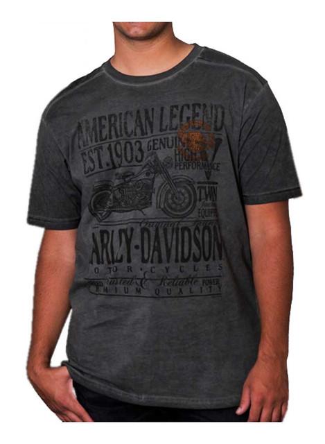 Harley-Davidson Men's Approved Twin Premium Short Sleeve T-Shirt, Cold Steel - Wisconsin Harley-Davidson