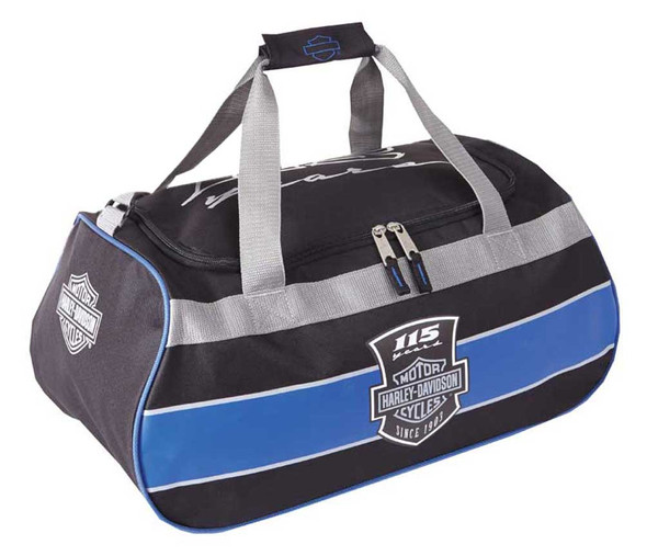 Harley-Davidson 115th Anniversary Collection Sports Duffel Bag w/ Strap 99418 - Wisconsin Harley-Davidson