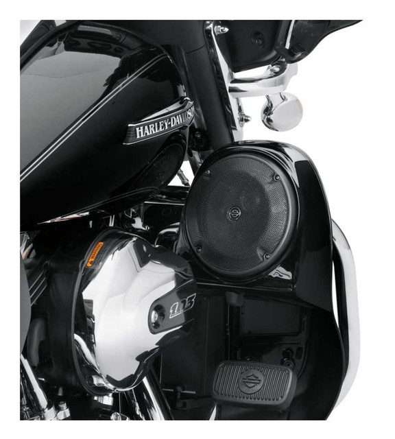 Harley-Davidson Boom! Audio Stage I Fairing Lower Speaker Kit, Black 76000487 - Wisconsin Harley-Davidson