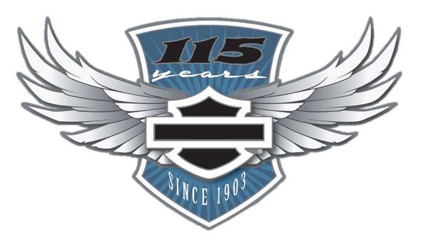 Harley-Davidson 115th Anniversary Pin Core Winged Bar & Shield, Silver 290151 - Wisconsin Harley-Davidson