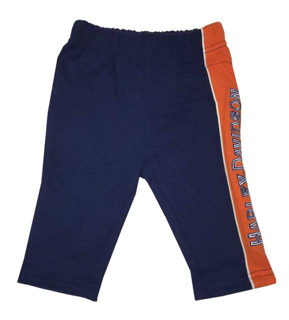 Harley-Davidson Baby Boys' Embroidered Fleece Newborn Pants, Black 4054511 - Wisconsin Harley-Davidson