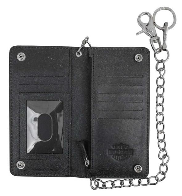Harley-Davidson Men/'s Skull Graphite Magnetic Front Pocket Wallet UN4650L-GRYBLK