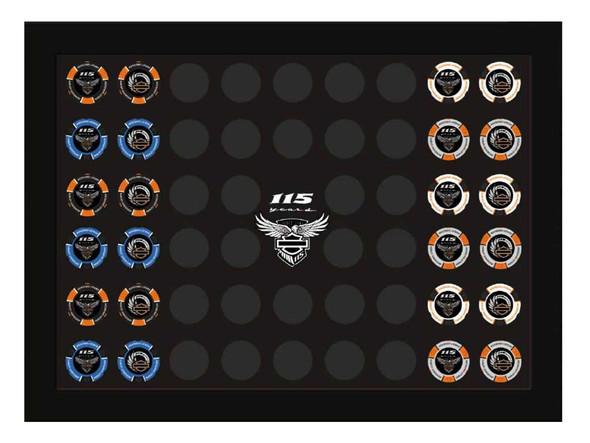 Harley-Davidson 115th Anniversary Collector's Poker Chip Frame, Black 6966 - Wisconsin Harley-Davidson