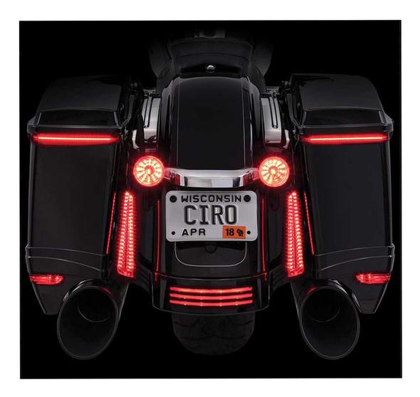 Ciro Bag Blades LED Lights, Fits '97-'13 Harley FLHT & FLTR Models, Amber 40028 - Wisconsin Harley-Davidson