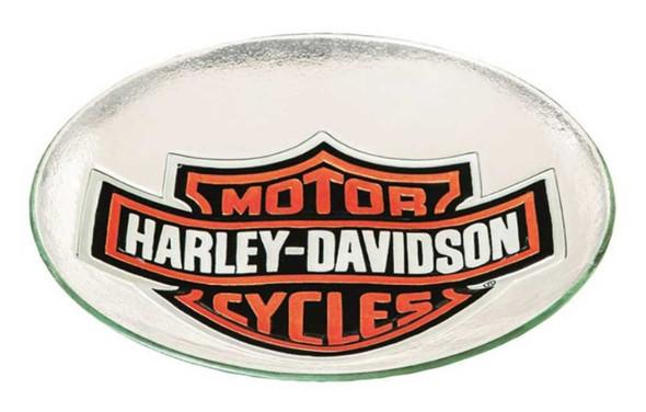 Harley-Davidson Bar & Shield Glass Birdbath, 21.21 x 2.55 inches 2GB4900 - Wisconsin Harley-Davidson