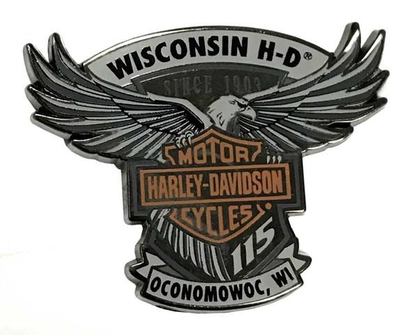 Harley-Davidson 115th Anniversary Wisconsin H-D Magnet - Limited Edition 290085 - Wisconsin Harley-Davidson