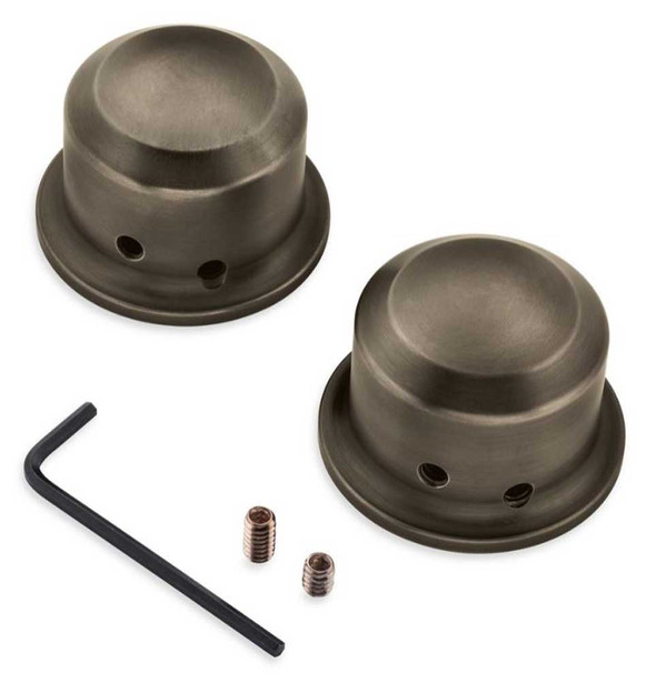 Harley-Davidson Brass Finish Front Axle Nut Covers -  Set of Two 43000046 - Wisconsin Harley-Davidson
