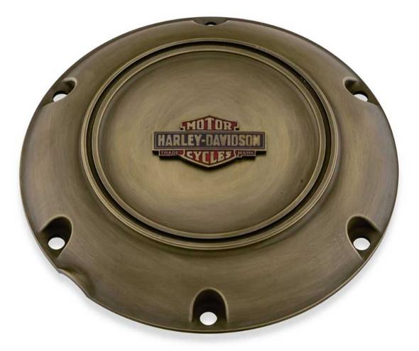 Harley-Davidson Brass Finish Derby Cover - Fits XL & XR Models 25700517 - Wisconsin Harley-Davidson