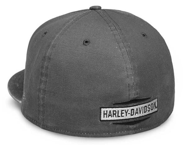Harley-Davidson Men's Raw Edge Patch 59FIFTY Baseball Cap, Gray 99437-18VM - Wisconsin Harley-Davidson