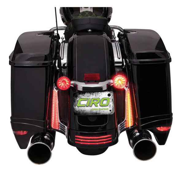 Ciro LED Light Filler Panels, '14-up Harley Street Glide, Road Glide Motorcycles - Wisconsin Harley-Davidson