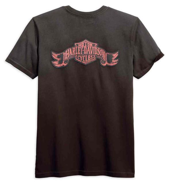 Harley-Davidson Men's Jersey Applique Slim Fit Short Sleeve Shirt 99092-18VM - Wisconsin Harley-Davidson