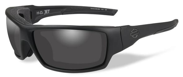 Harley-Davidson Men's Jet Sunglasses, Smoke Lenses / Matte Black Frames HDJET01 - Wisconsin Harley-Davidson