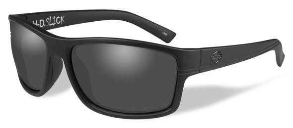 Harley-Davidson Men's Slick Sunglasses, Smoke Lenses/Matte Black Frames HASLK01 - Wisconsin Harley-Davidson